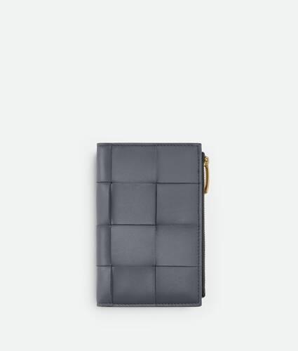 medium bi-fold zip wallet