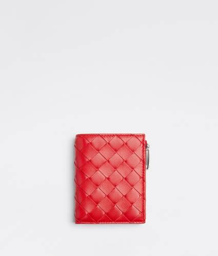 small bi-fold zip wallet